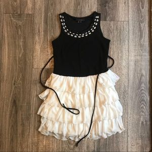 {{my Michelle}} girl size10 white layer knee dress